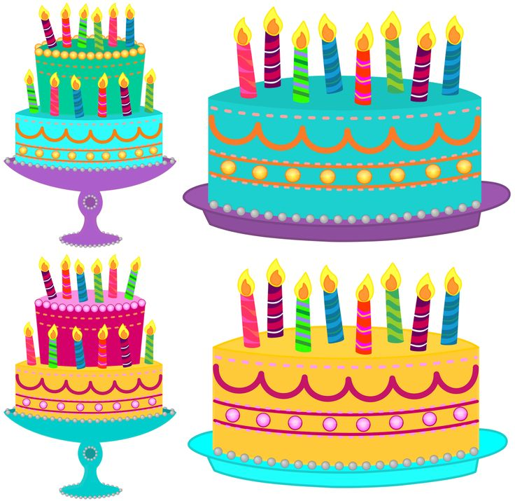 3D clipart birthday cake PNG Art without Free 21