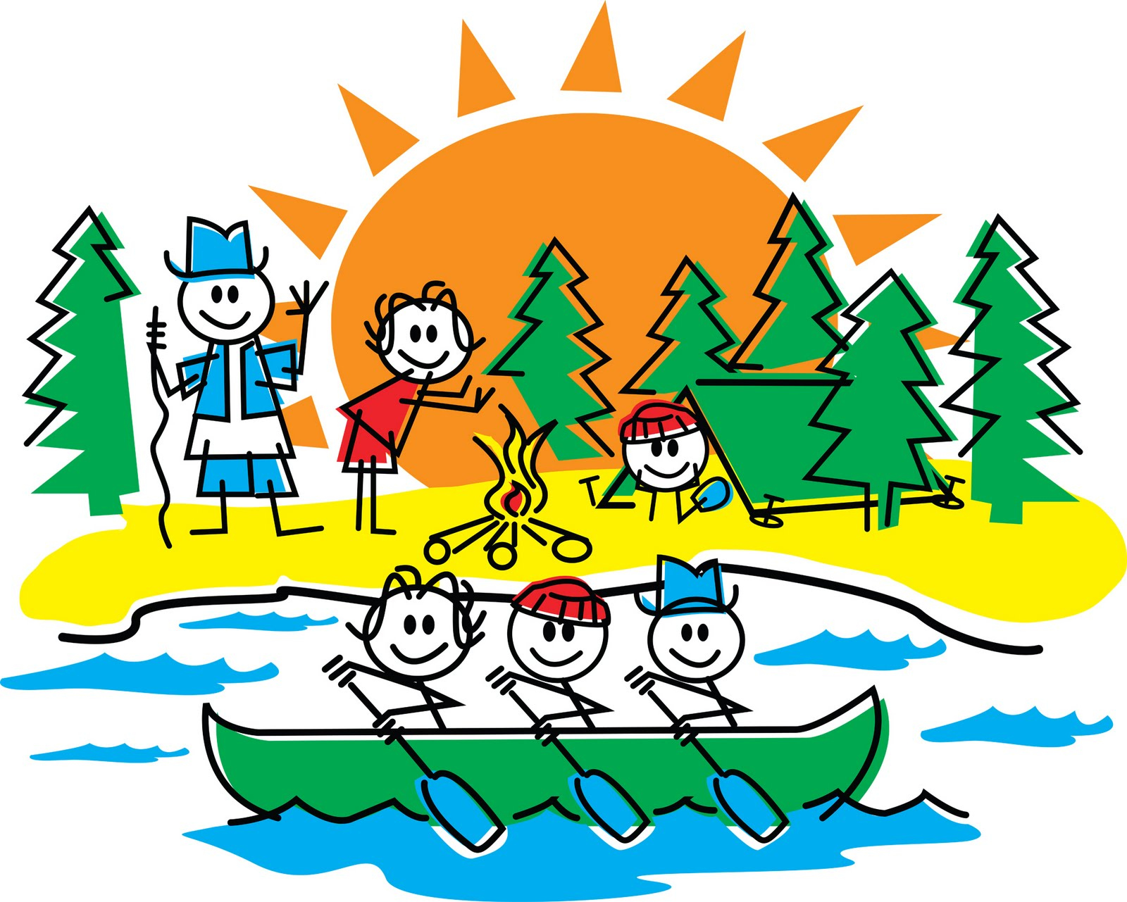 Camping clipart day camp Summer Ricciardi by did
