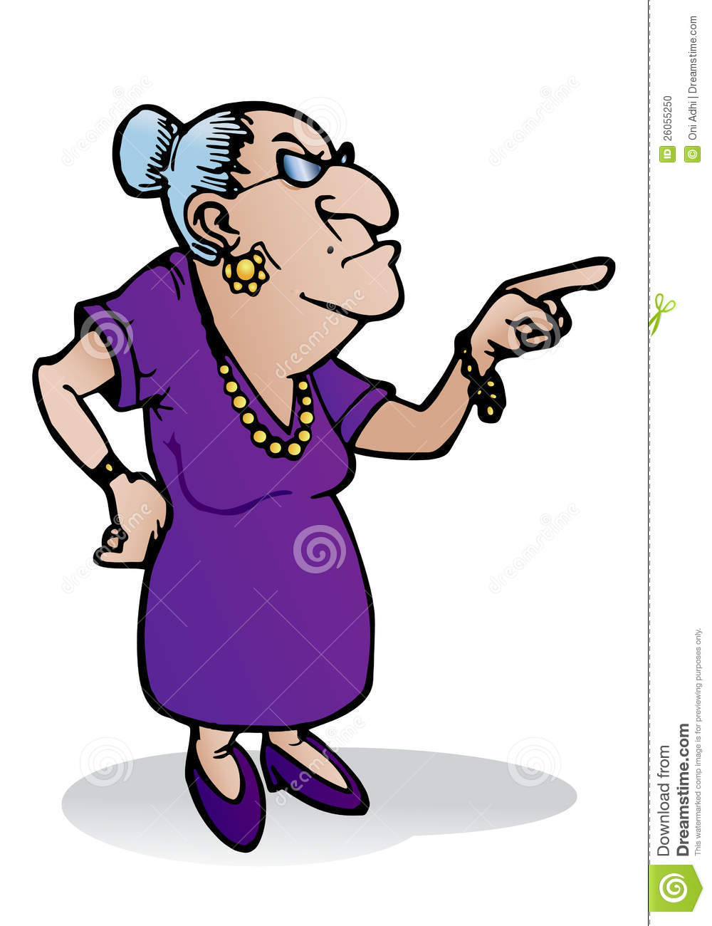 Scary clipart old lady #1