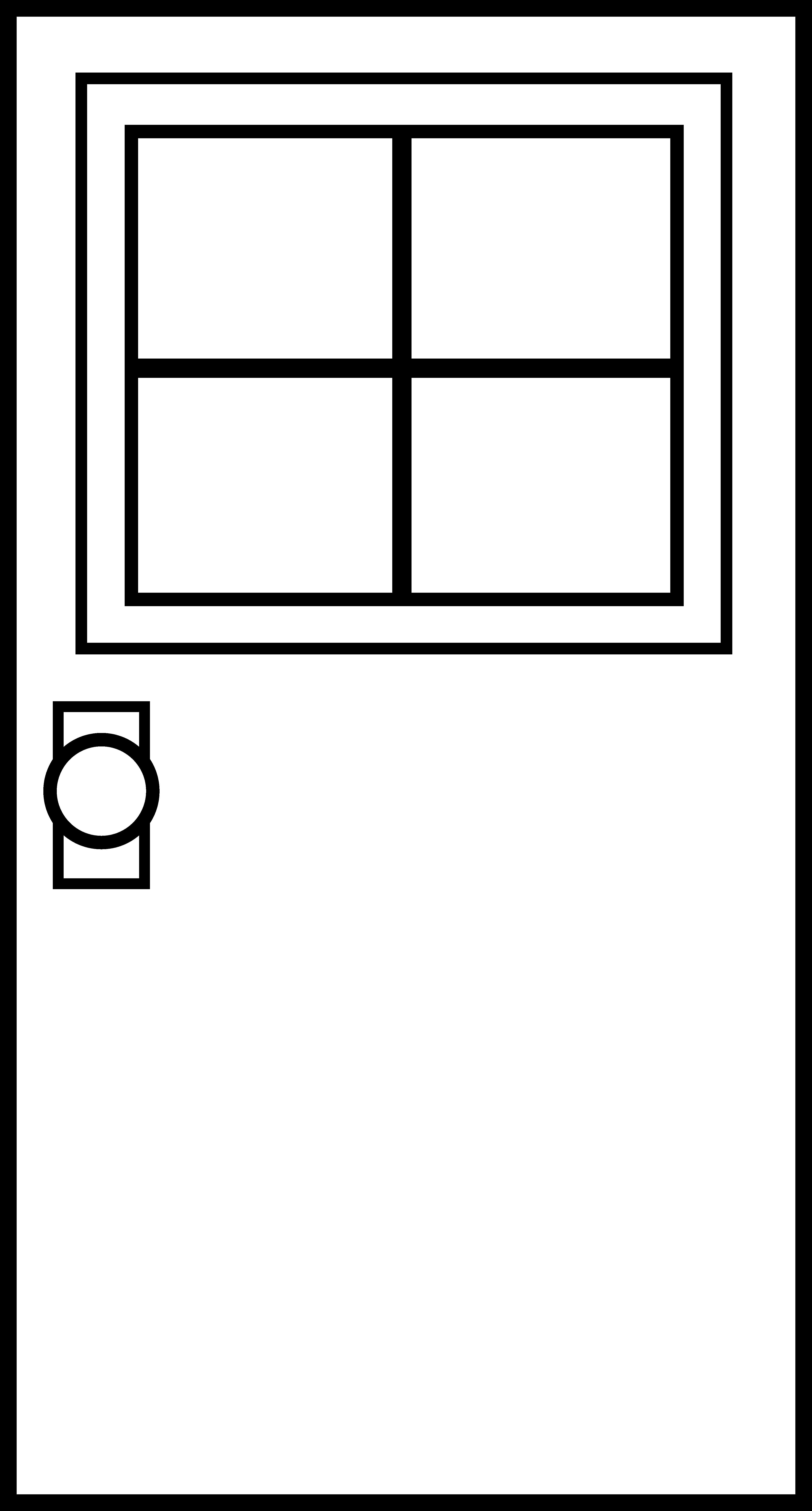 Window clipart outline Art Clip  Black Clipart