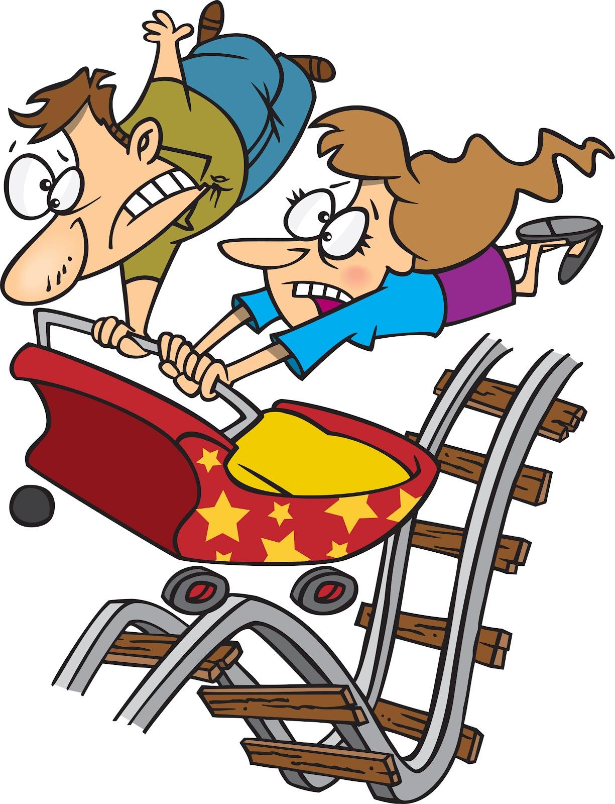 Cartoon clipart roller coaster Roller art Coaster Clipartix Roller