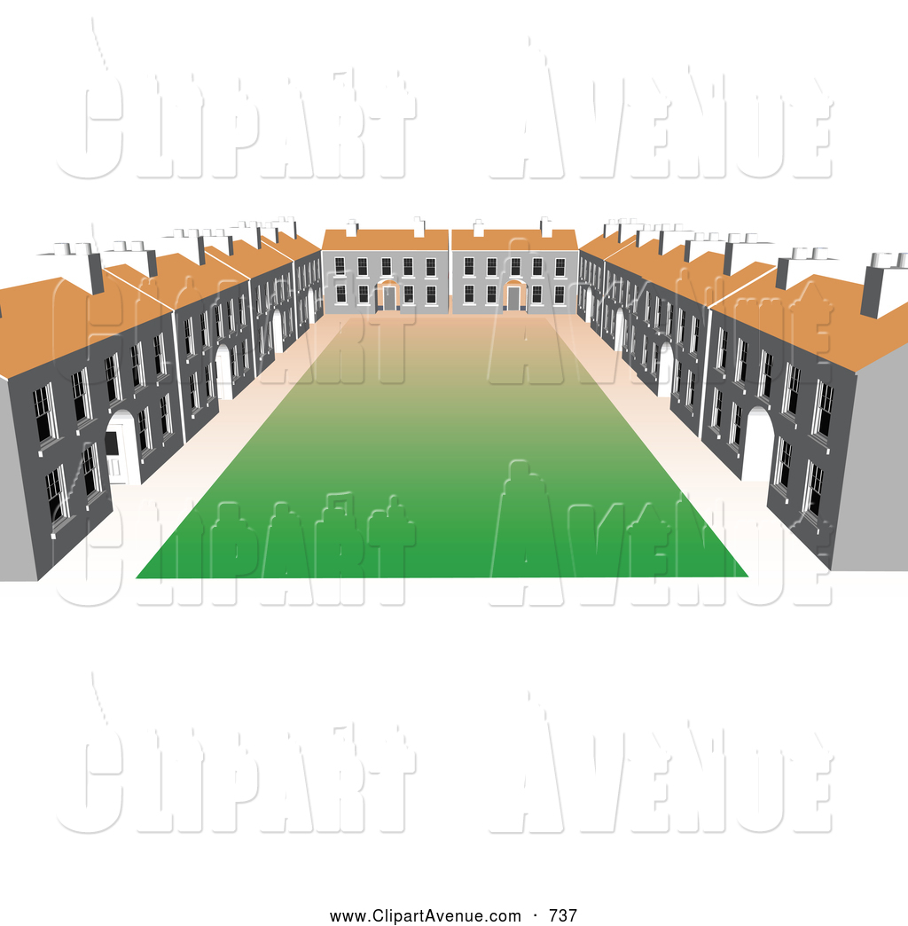 Courtyard clipart New Clipart Building Stock by