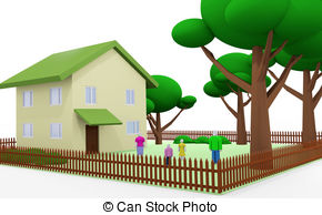 Courtyard clipart monastery  the the house family