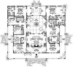 Courtyard clipart ranch house  I Floor and Designs