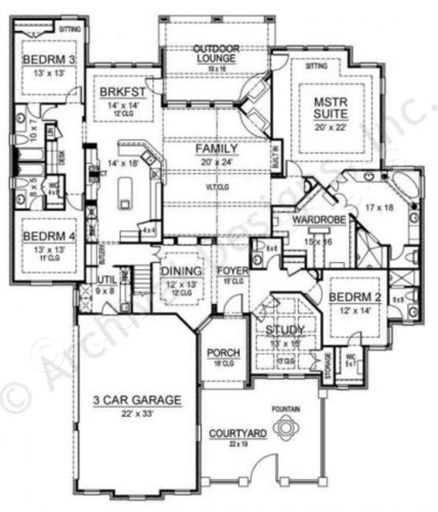 Courtyard clipart ranch house Floor Ranch Plan Ridgeview Courtyard