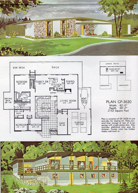 Courtyard clipart ranch house Plans images on Atomic Pinterest