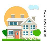 Courtyard clipart village home  or villa flat Clip