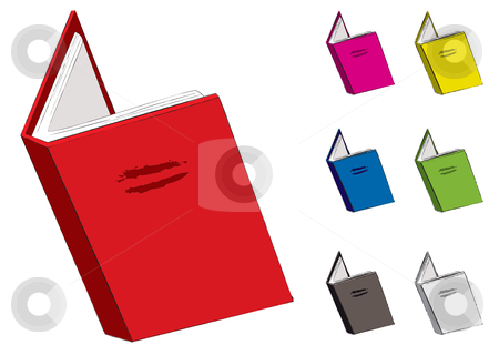 Red clipart open book #7