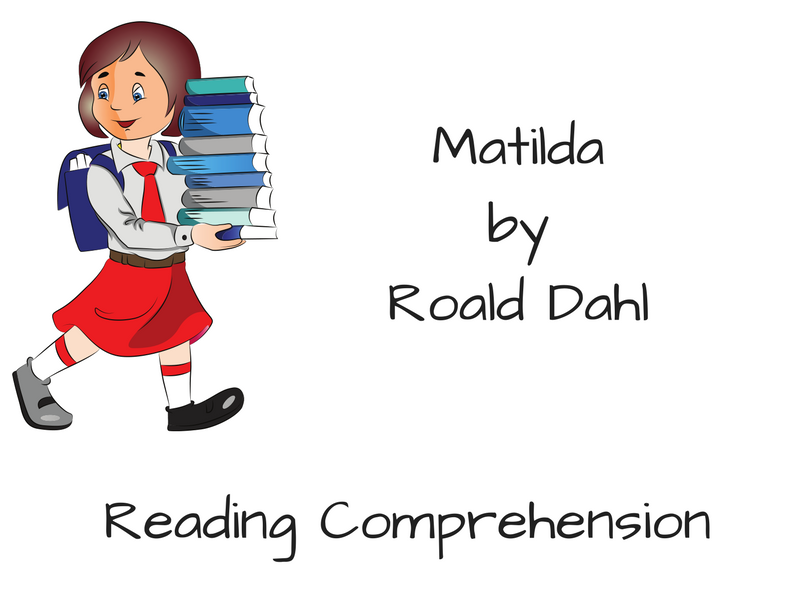 Cover clipart comprehension Matilda by Matilda Tes Reading
