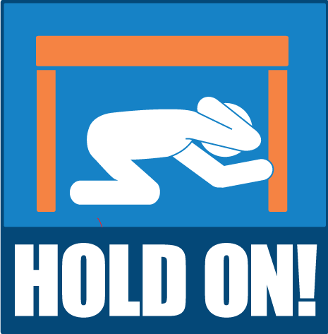 Earthquake clipart zone And Earthquake stops Cover Hold