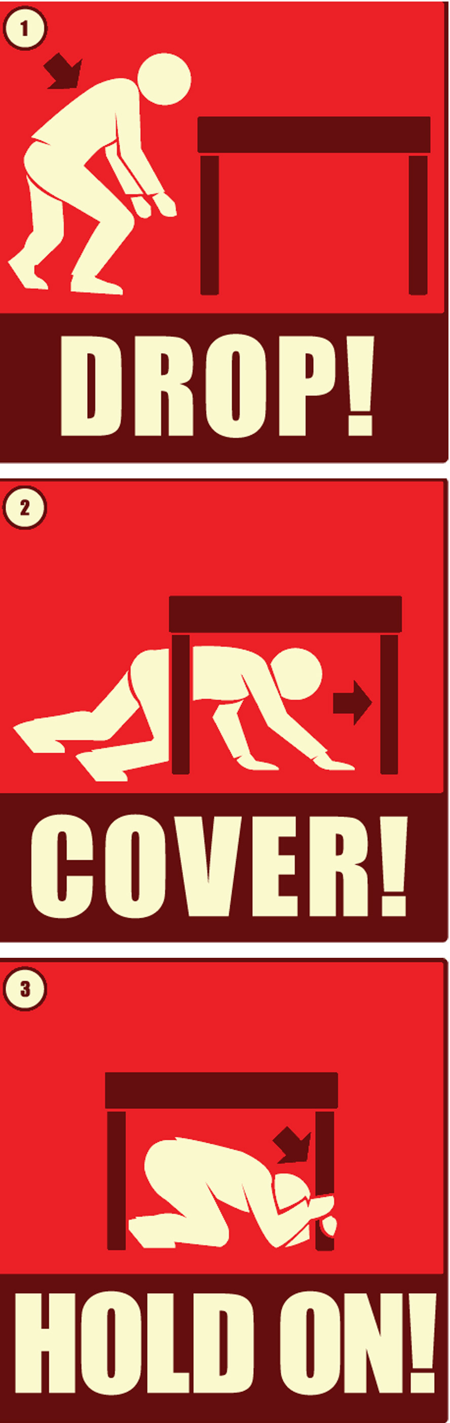 Earthquake clipart zone Earthquake Cover you on! Safety