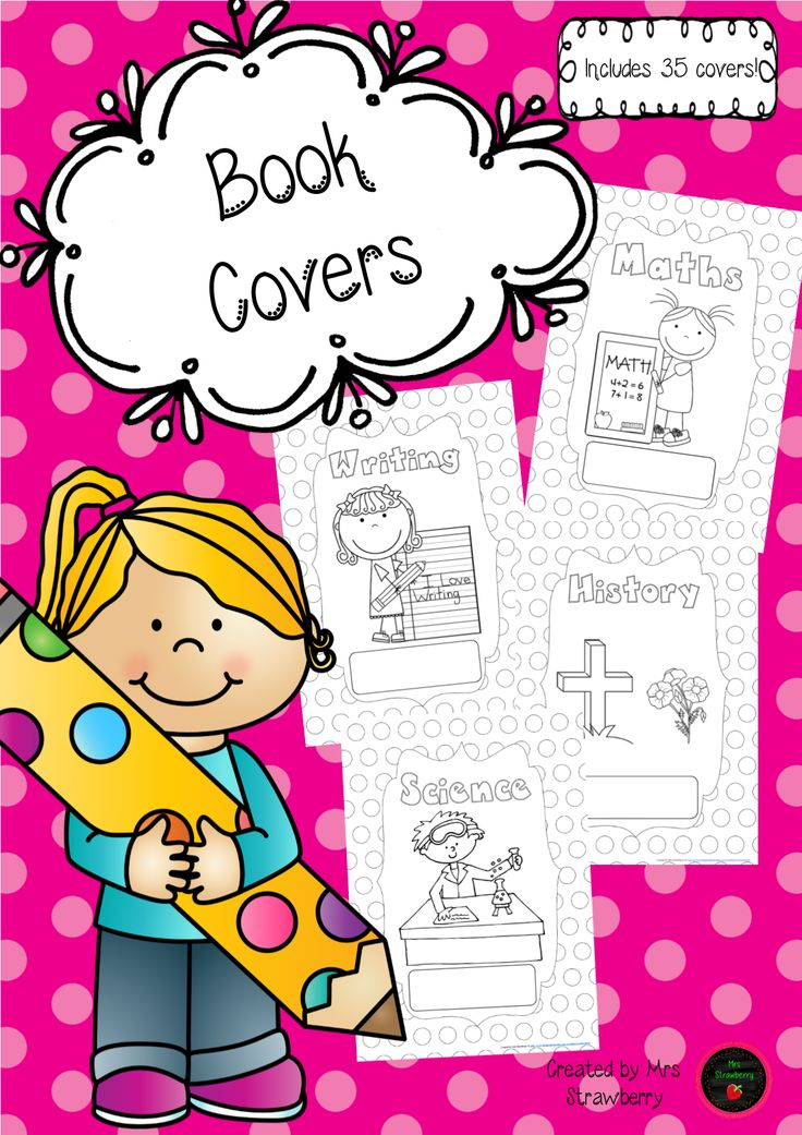 Cover clipart exercise book Covers about printables images Book