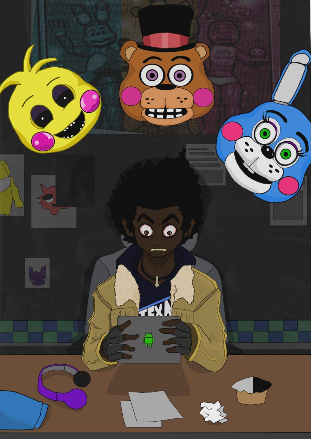 Cover clipart fnaf ChrisMcClary Not done Not by