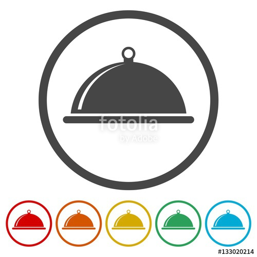 Cover clipart food platter Icon cover Stock Icon