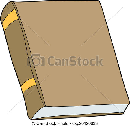 Cover clipart libro Generic book of brown Book
