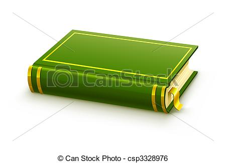 Cover clipart libro Cover closed blank of green
