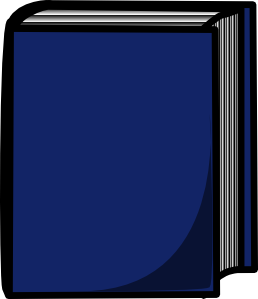 Cover clipart libro Harcover Clker Blue at Book