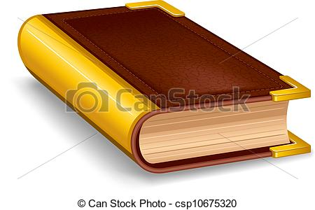 Cover clipart libro Of leather Illustration in book