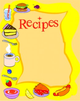 Cover clipart recipe book Recipe clipart Clipart Cookbook Recipe