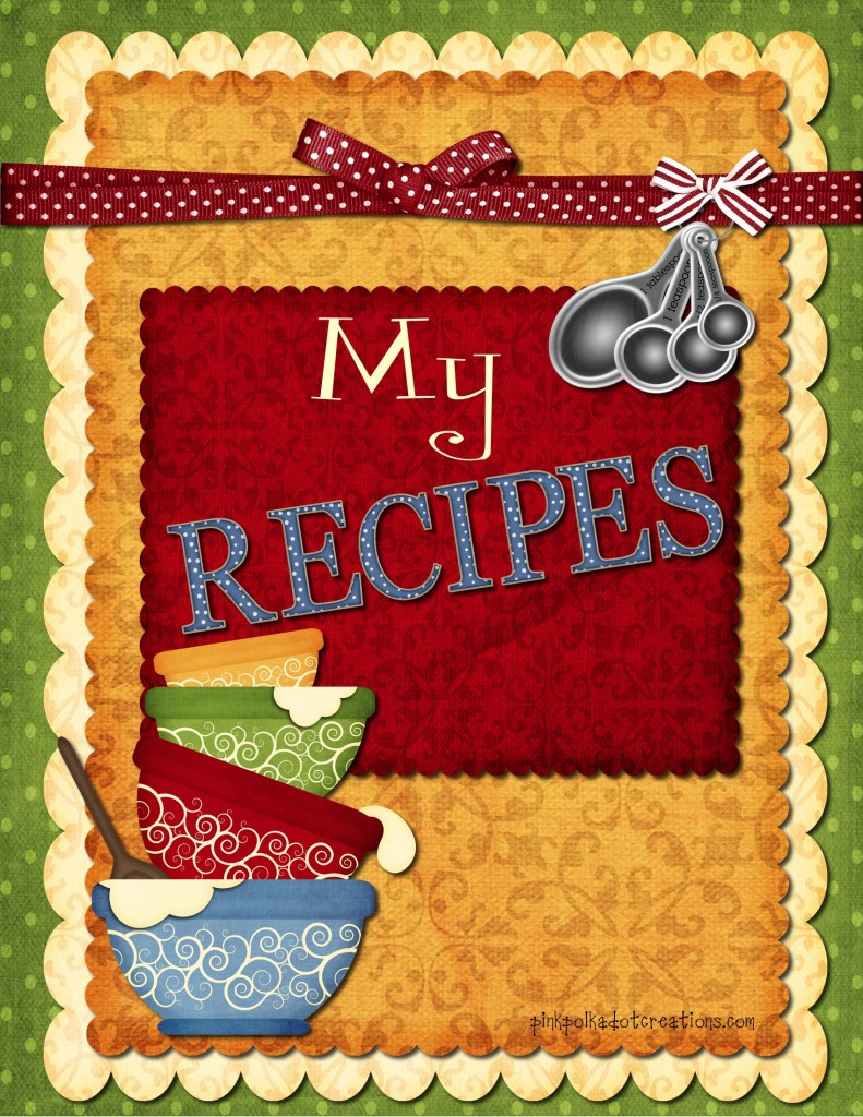 Cover clipart recipe book  girl recipe dividers book