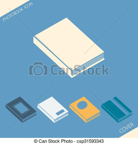 Cover clipart simple Of csp31593343 of photobook