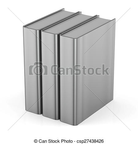 Cover clipart textbook 3 standing books Blank empty
