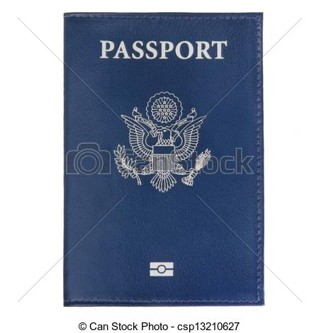Cover clipart us passport On white a of on