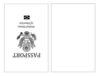 Cover clipart us passport Print) template to Passport The