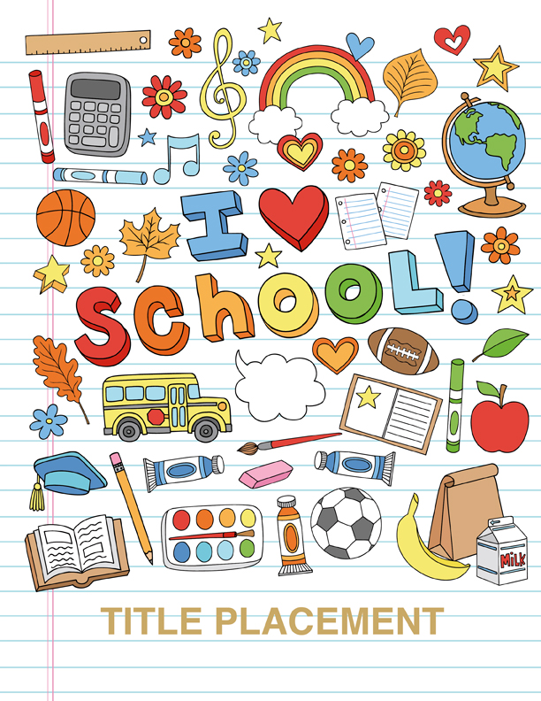 Cover clipart yearbook Company  chalkboard Annual School