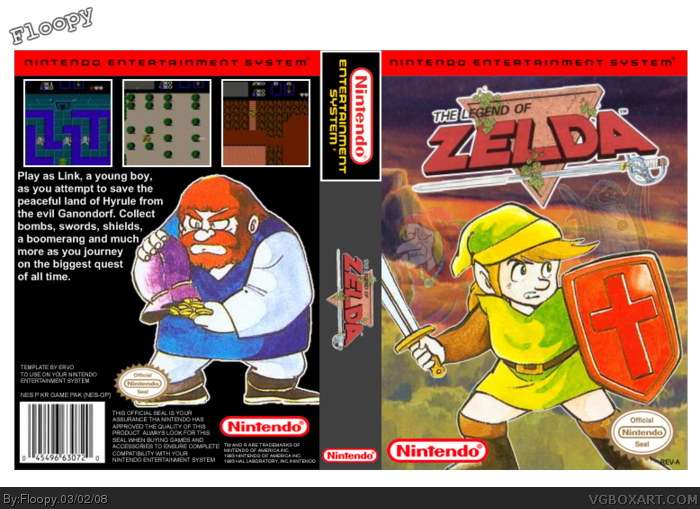 Cover clipart zelda Zelda cover NES of by