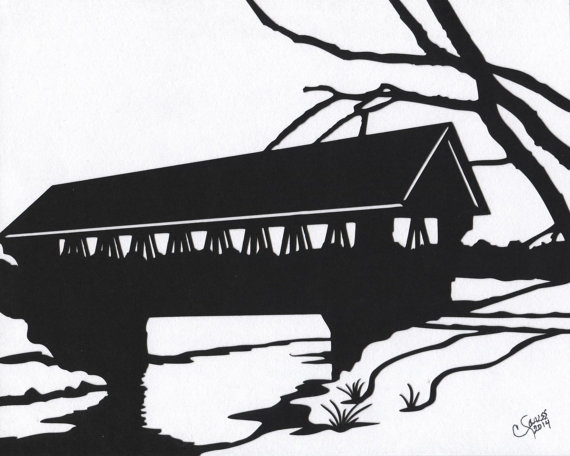 Covered Bridge clipart Covered $18 by white