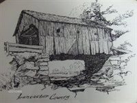 Covered Bridge clipart Simple Covered Bridge Drawing Pen images DrawingsPen Ink Ink