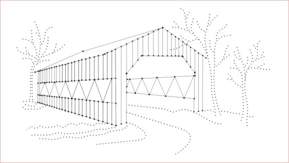 Covered Bridge clipart Simple Covered Bridge Drawing View 3D Product the DODD