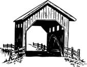 Covered Bridge clipart Simple Covered Bridge Drawing Covered Clipart Bridge Bridge cliparts
