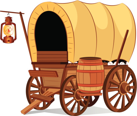 Covered clipart made Vector wagon_450 wagon 6c0ca34f5533fd98872f385edaf8552c_covered art