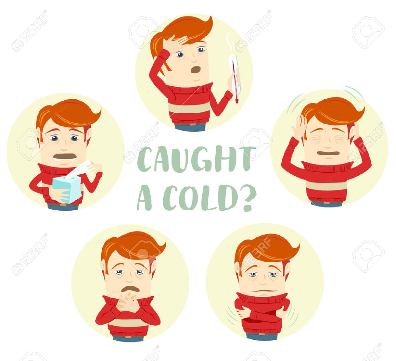 Covered clipart cough cold Collection Stock cold Cough clipart