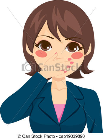 Covered clipart cover mouth Covering on Covering Woman Mouth