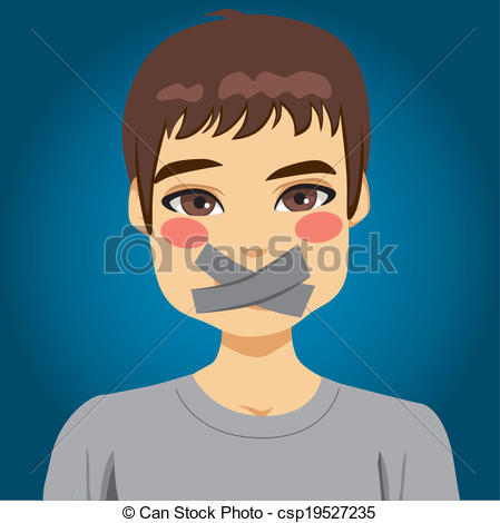 Covered clipart cover mouth Silenced man Man Man Mouth