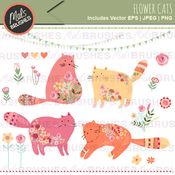 Covered clipart cover your Clipart Flower flowers of Cats