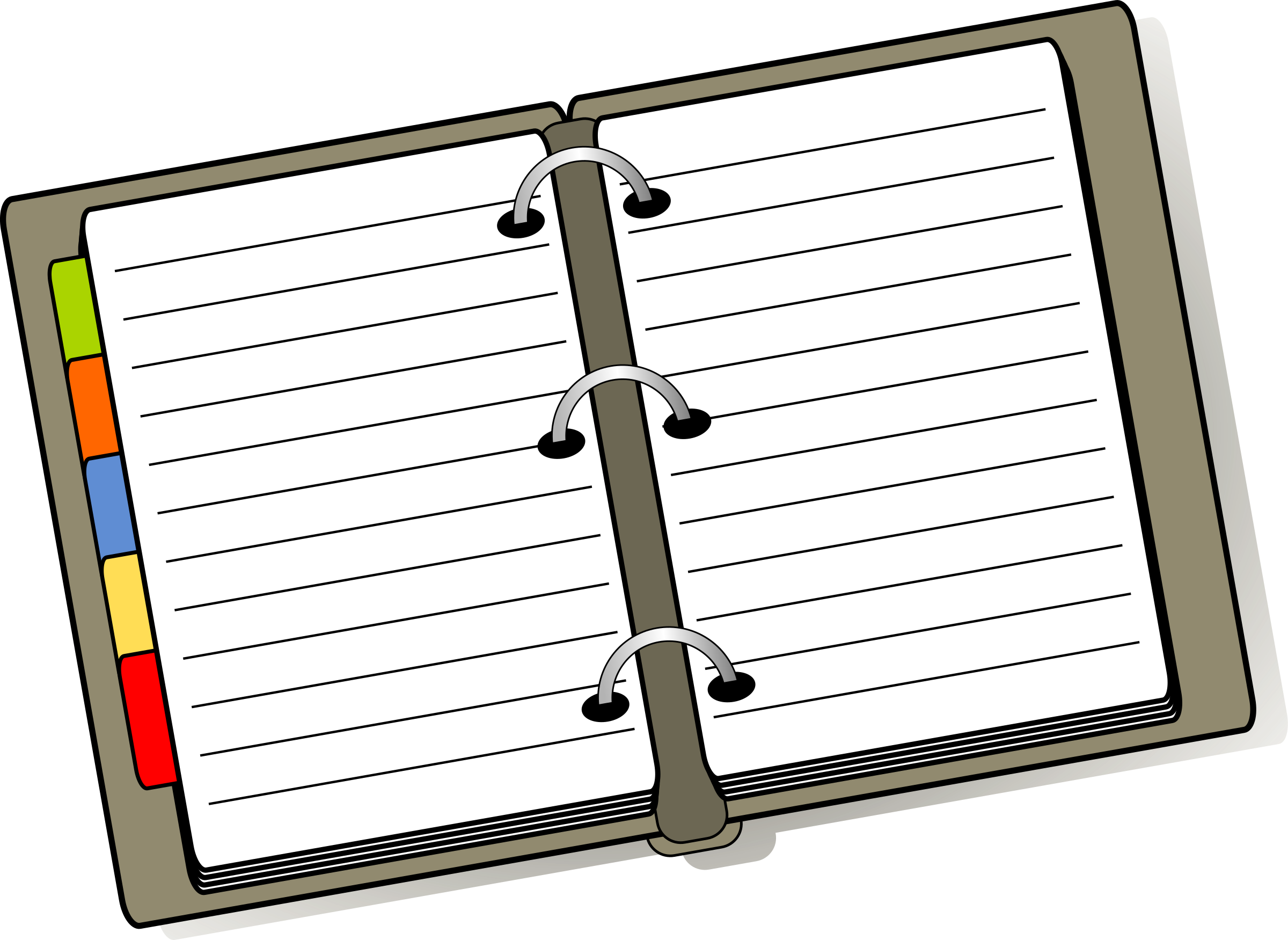 Covered clipart log book BIG IMAGE Diary Clipart (PNG)