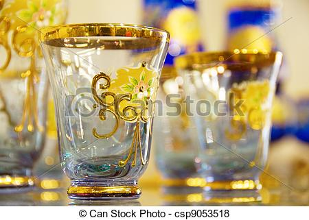 Covered clipart made Glass Illustration with small Blue
