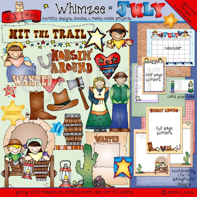 Covered clipart made Clip clip clip July Whimzee
