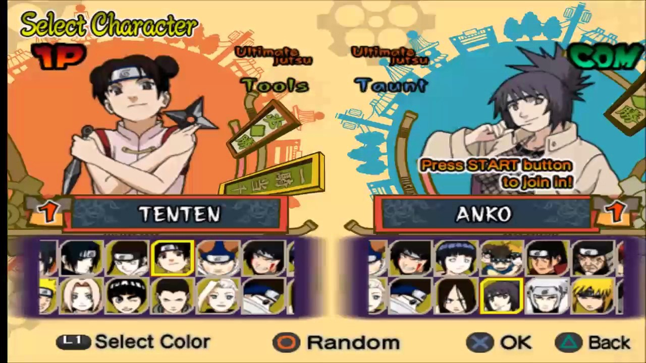 Covered clipart naruto game Ultimate & Tenten PS vs