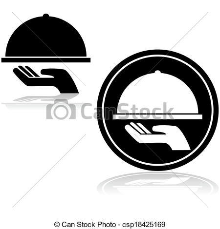 Covered clipart vector Icon Serving Clip Vector a