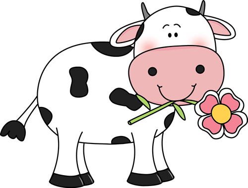 Beef clipart transparent With Flower Cow a Cow