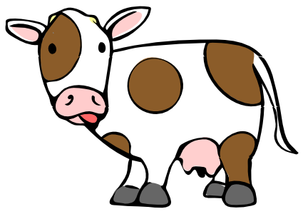Cow clipart Cow cartoon art Cow pictures