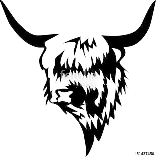 Cow clipart scottish Vector highland on image image