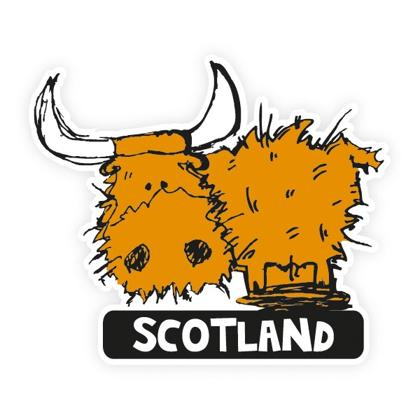 Cow clipart scottish Must Sticker Sticker Toffee Souvenirs