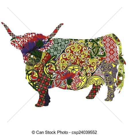 Cow clipart scottish A in Scottish cow Clipart