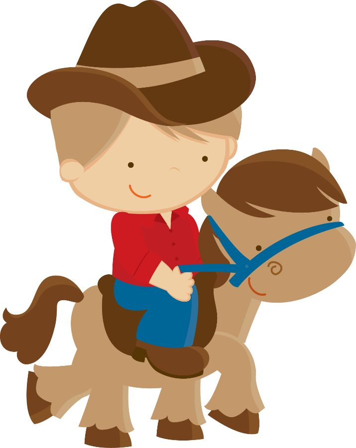 Cowboy clipart themed Art Cowboy cowgirl on western